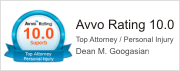 Dean Googasian AVVO rating